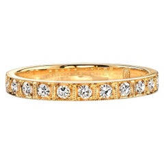 18k Gold Handcrafted Ladies' Eternity Band
