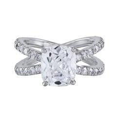 Roman Malakov, GIA Certified Diamond Double Shank Engagement Ring