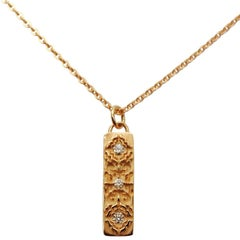 Luca Jouel Rosy Labyrint Rose Gold Diamond Necklace
