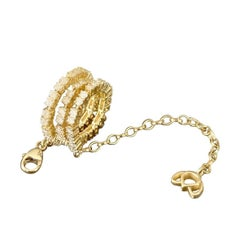 Luca Jouel Goldy Gold Diamond Lotus Tennis Bracelet