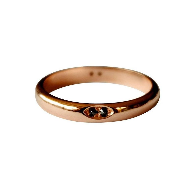 Luca Jouel Black Diamond Rose Gold Ring