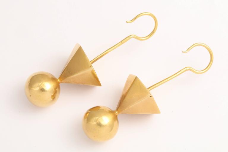 Women's Gold Tribal Geometric Earrings For Sale