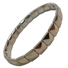 White Gold Elegant Rigid Modern Bracelet