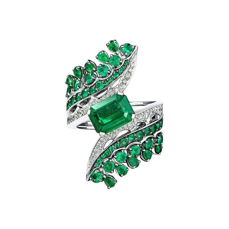 Vanleles Diamond Gemfield Emerald Legends of Africa High End Ring 1