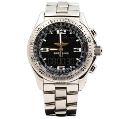 Breitling Stainless Steel B1 Black Dial Quartz Wristwatch