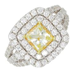 Frederic Sage 1.20 Carat Yellow Diamond Ring