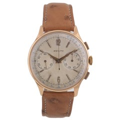 Zenith Rose Gold Vintage Chronograph Wristwatch