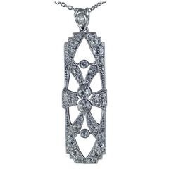 Edwardian Diamond Platinum Pendant, circa 1910