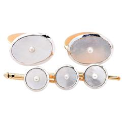 Mother of Pearl Stud and Cufflink Set