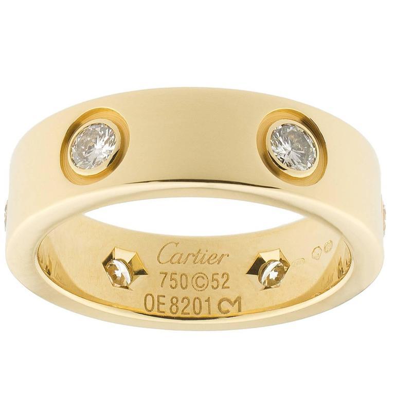 Cartier diamond Gold Love Ring