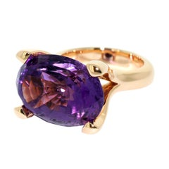 Lizunova One-of-a-Kind Amethyst Rose Gold Cocktail Ring