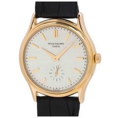 Patek Philippe Rose Gold manual wind Wristwatch Ref 3923, circa 1990