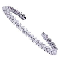 6.23 Carats Diamonds White Gold Line Bracelet
