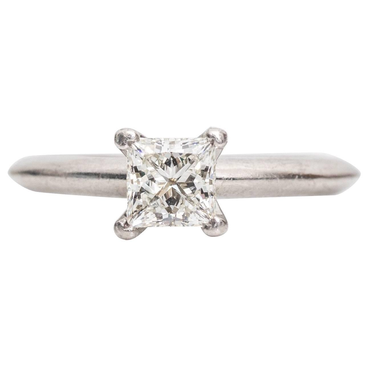 Tiffany & Co. Classic diamond Platinum Solitaire Engagement Ring