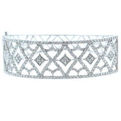 Diamond White Gold Cuff Bracelet