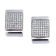 Diamond Pave Gold Earrings