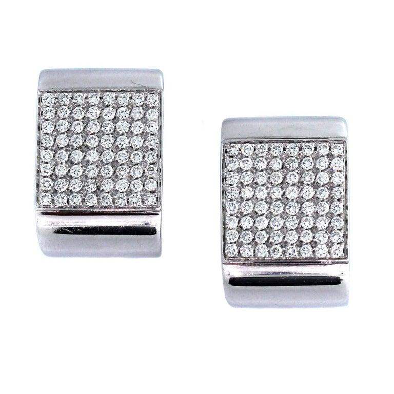 Diamond Pave Gold Earrings