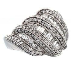 Diamond Gold Dome Ring