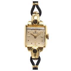 Rolex Ladies Yellow Gold Manual Wind Wristwatch