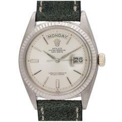 Rolex White Gold Day Date President Wristwatch Ref 1803, circa 1963