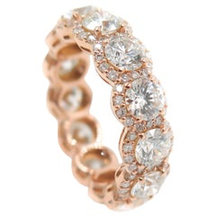 Rose Gold Halo Diamond Eternity Band