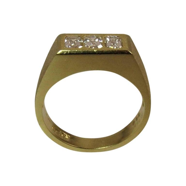Yellow Gold Man's Diamond Band Ring