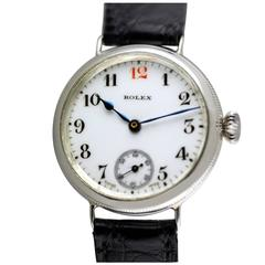 Silver Rolex Officers Trench Watch, 1917
