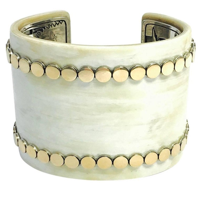 John Hardy Dot Buffalo Horn Yellow Gold And Sterling