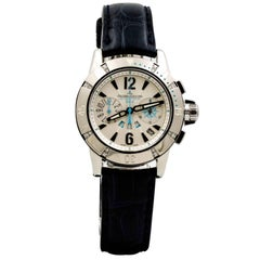 Jaeger LeCoultre Ladies Stainless Steel Diver Chronograph Automatic Wristwatch
