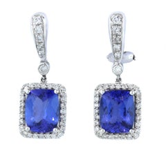 Tanzanite Diamond Gold Earrings