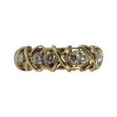 18 Karat Yellow Gold and Diamond Band Ring