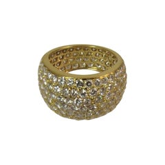 All Around Tapered Pave Diamond Gold Ring