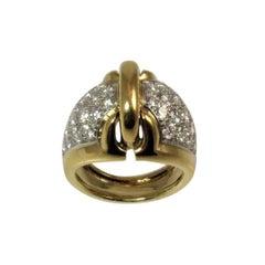 Diamond Gold Platinum Ring