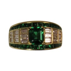Picchiotti Emerald and Diamond Ring