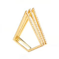 Sophie Birgitt Full Diamond Triangular Cocktail Ring