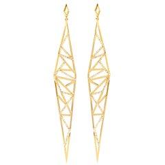 Sophie Birgitt Geometric Diamond Drop Earrings