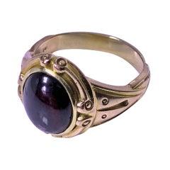 Gentleman's Fine Antique 19th Century Garnet Ring, C.1890
