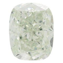 GIA Certified 1.01 Carat Fancy Light Green Cushion Loose Diamond