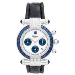 Chopard White Gold Diamond Sapphire Imperial Quartz Wristwatch