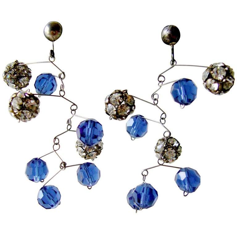 Ruth Berridge Sterling Silver Kinetic Mobile Earrings For Sale