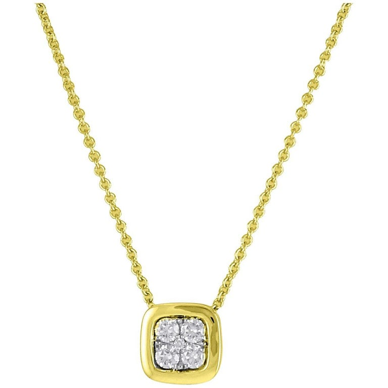 Frederic Sage 0.19 Carat Diamond 7mm Pendant Necklace For Sale