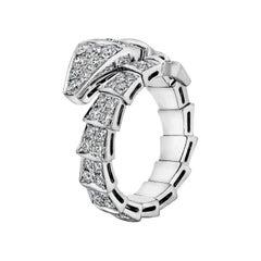 Bulgari Serpenti Diamond and Gold Wrap Ring