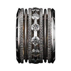 Alexandra Mor Wide Brilliant-Cut Diamond Platinum Eternity Band Ring