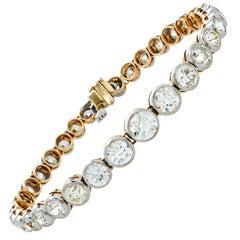 Old European Cut 10.85 Carat Diamond Bracelet