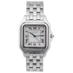 Cartier Stainless Steel Panthere Jumbo Size Quartz Bracelet Wristwatch