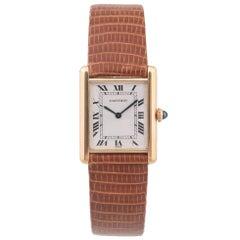 Cartier Yellow Gold Tank Louis Mecanique Manual Wristwatch