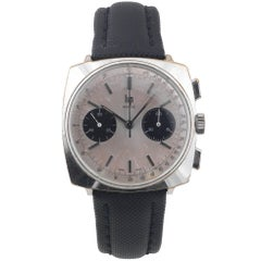 LIP Stainless Steel Chrome-Plated Top Time Chronograph manual Wristwatch, 1960s