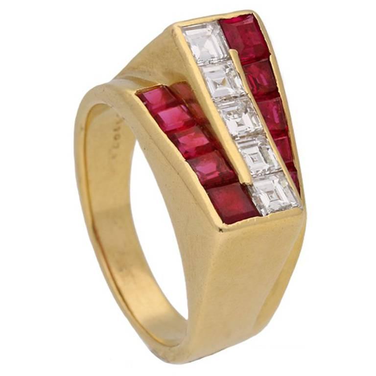 Ruby and Diamond Ring by Oscar Heyman Brothers