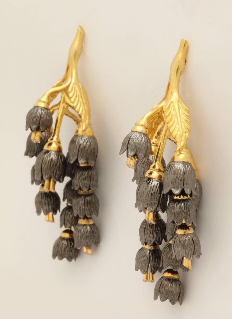 Rebecca Koven Lily of the Valley Earrings For Sale 3