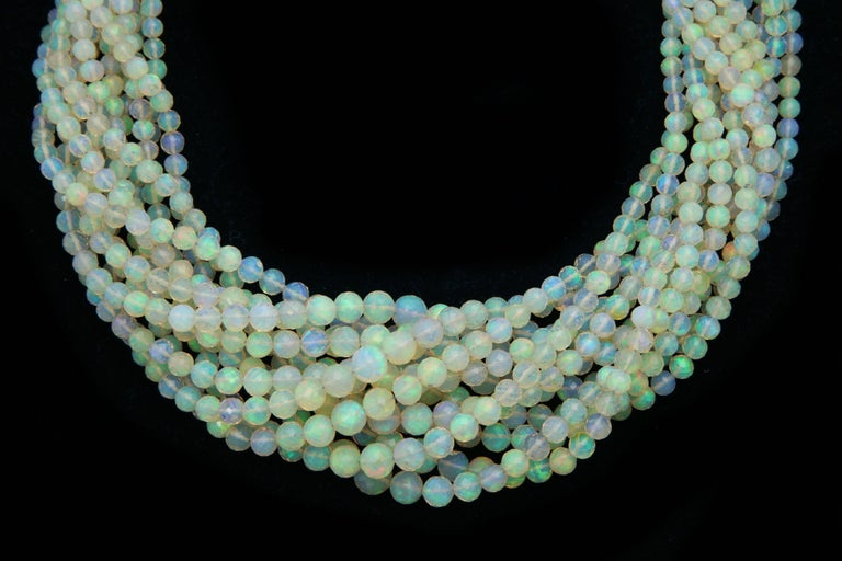 Contemporary Opal Gold Necklace For Sale